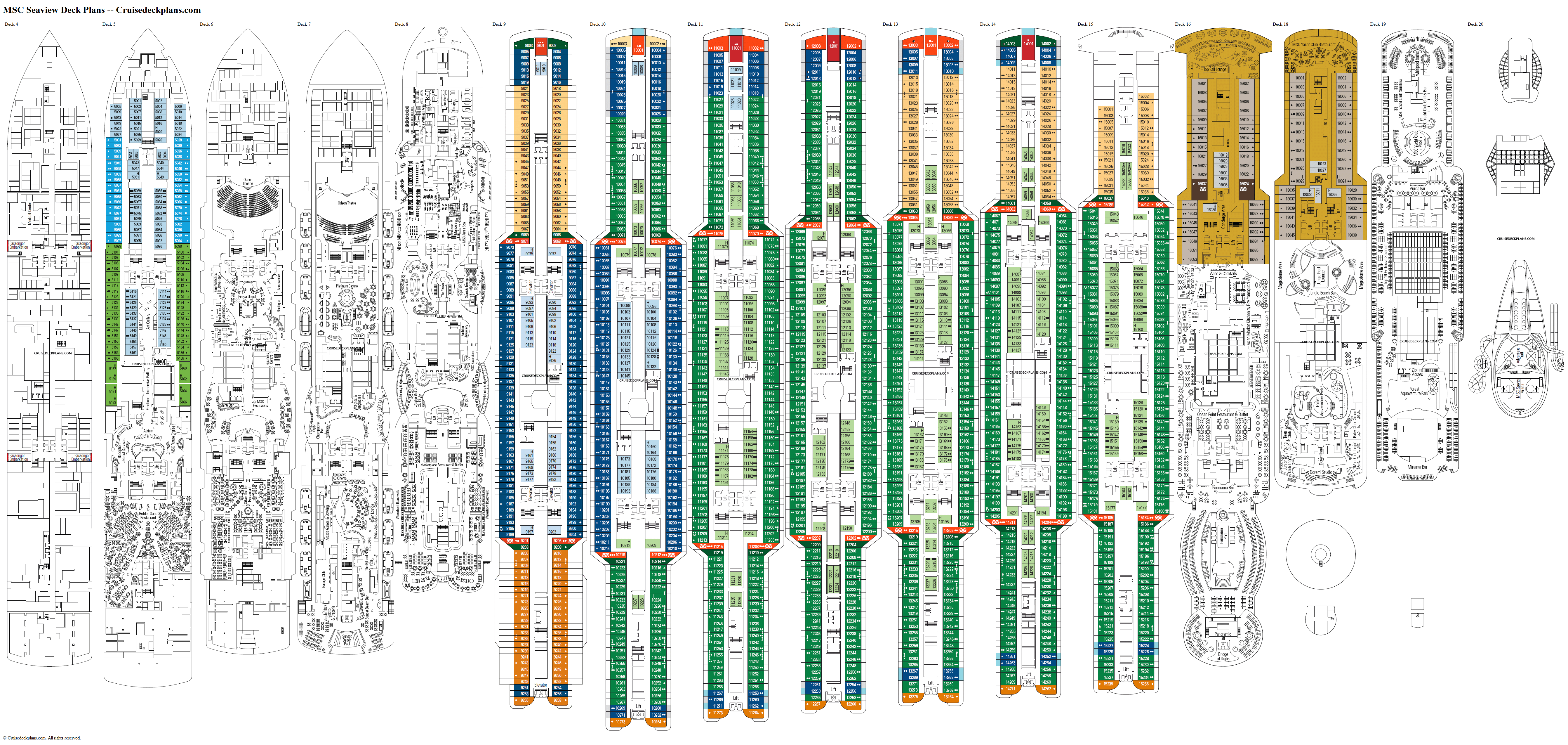 MSC Seaview deck plans image