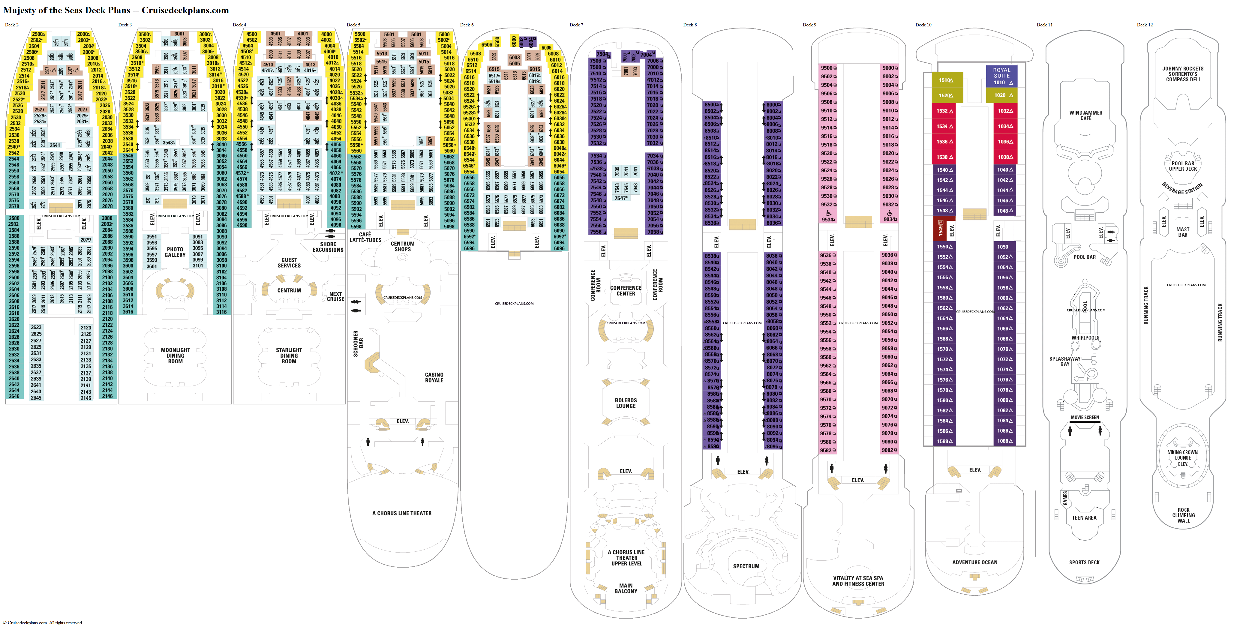 Majesty of the Seas deck plans image