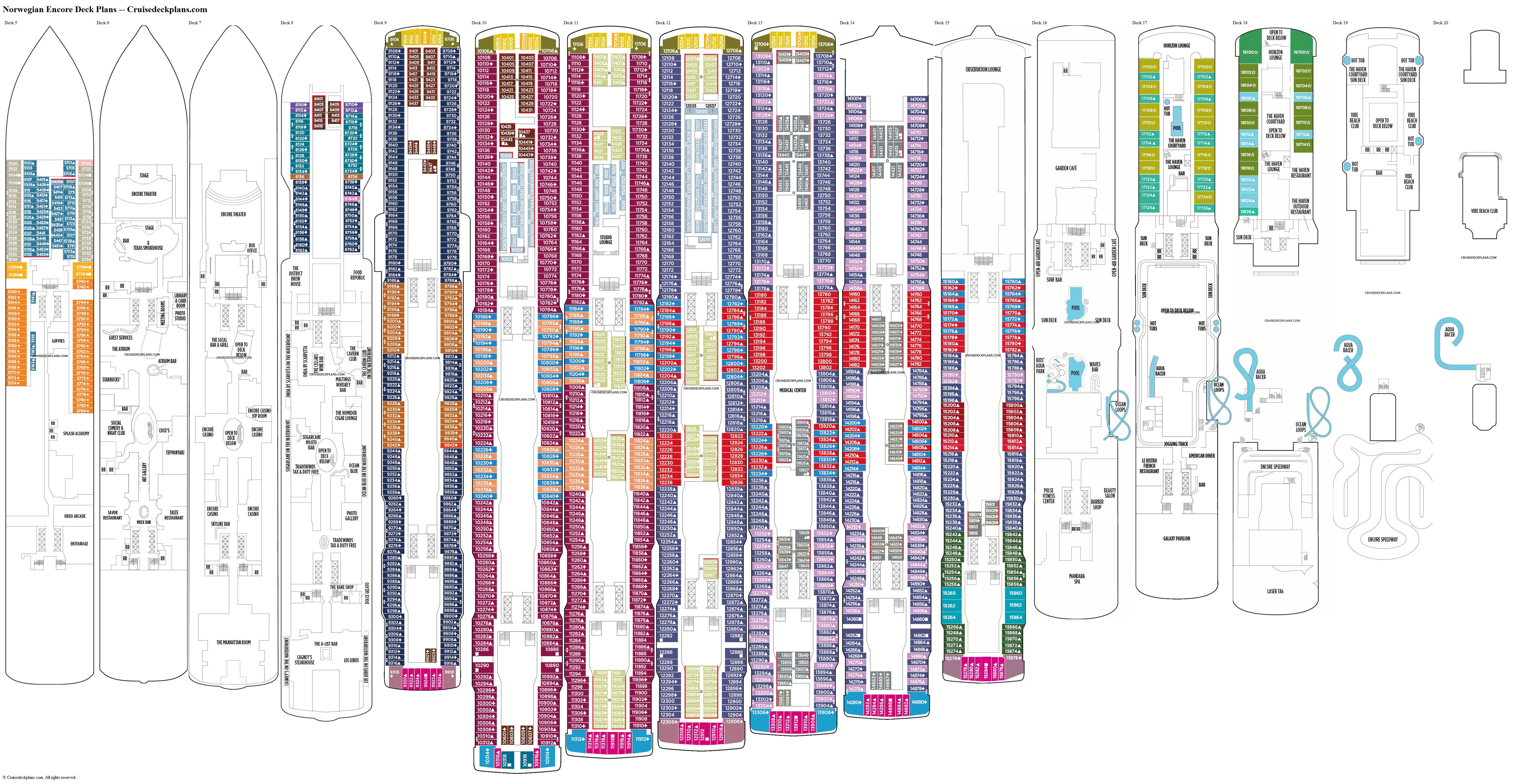 Norwegian Encore deck plans image