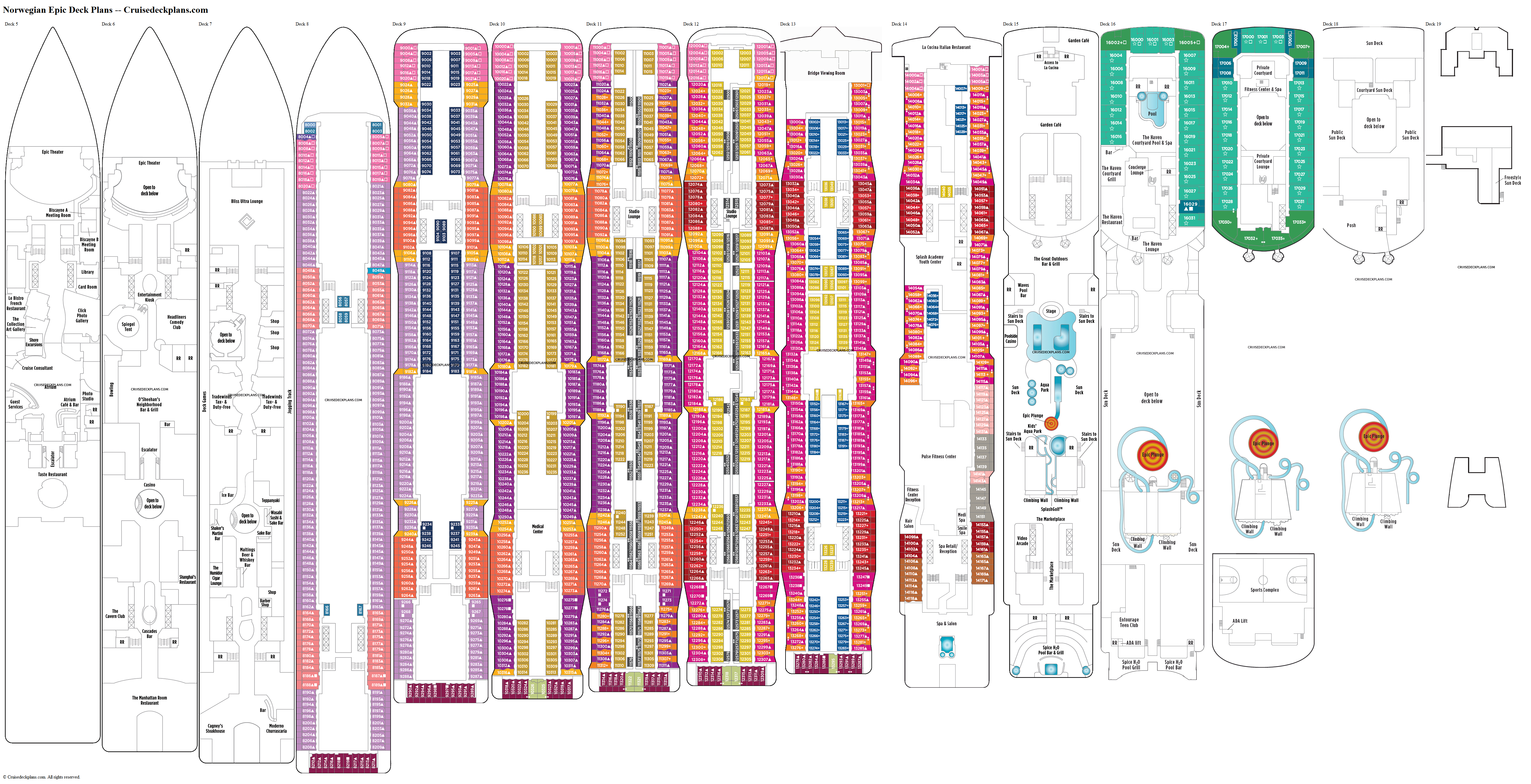 Norwegian Epic deck plans image