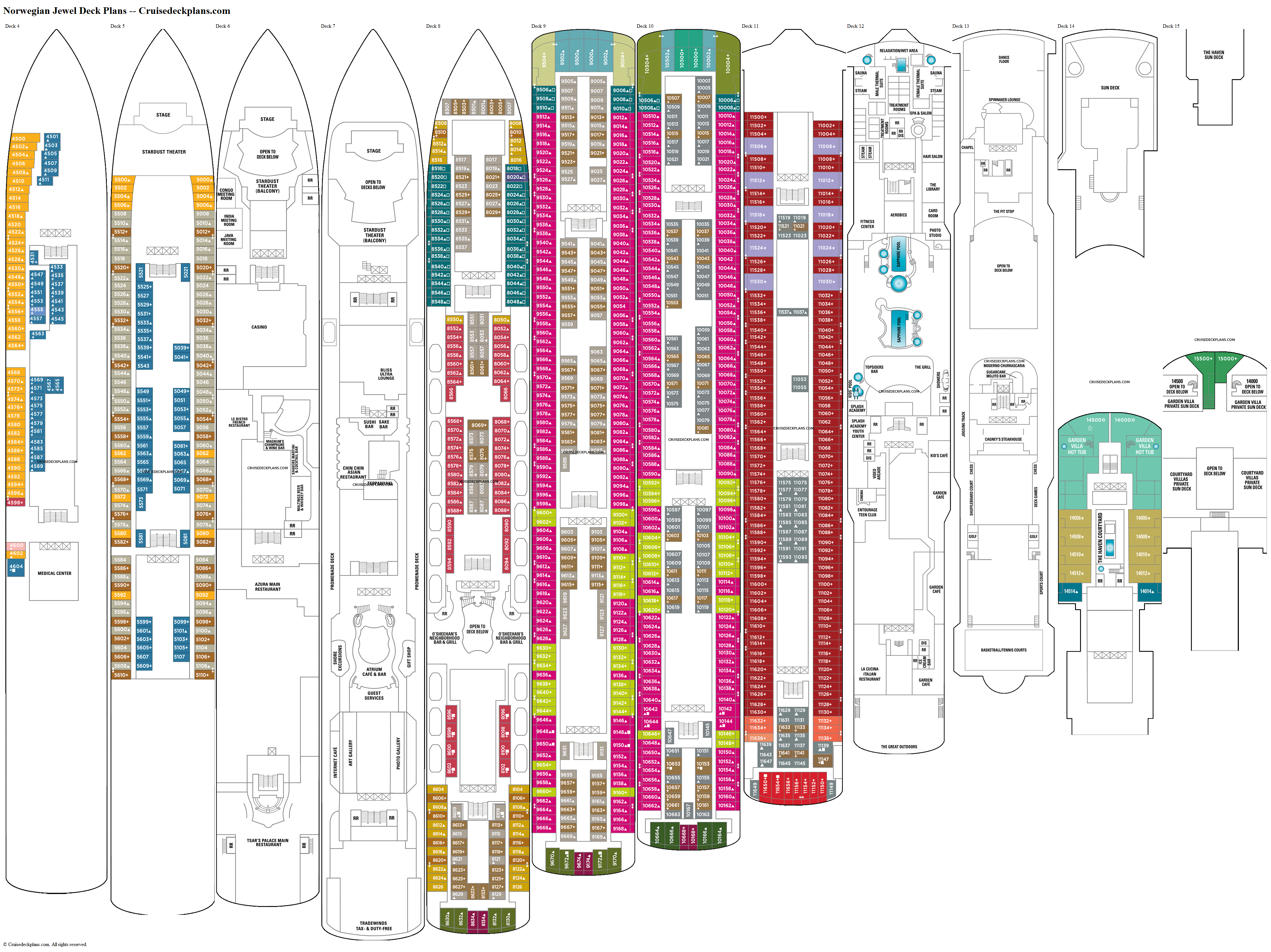 Norwegian Jewel deck plans image