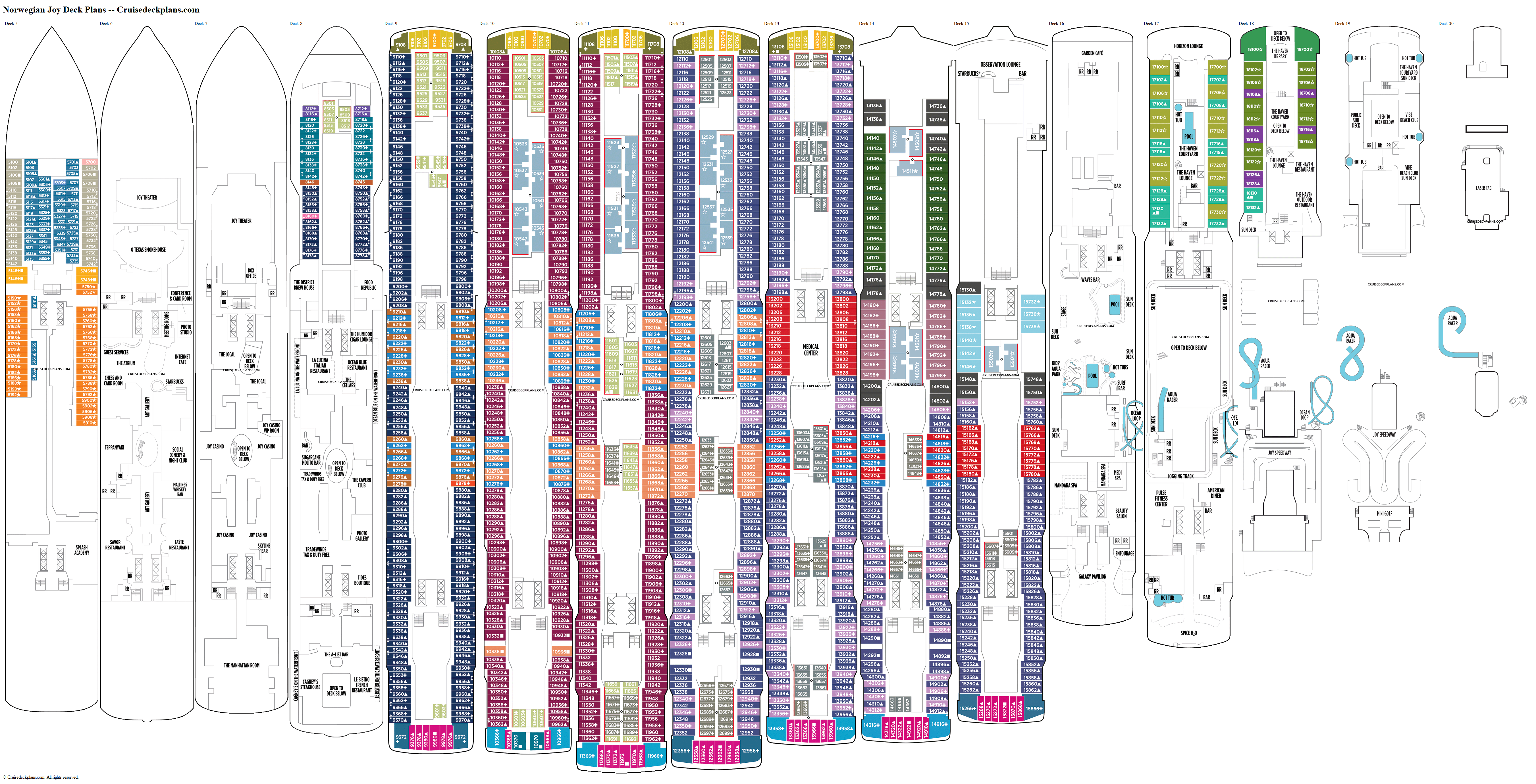 Norwegian Joy deck plans image