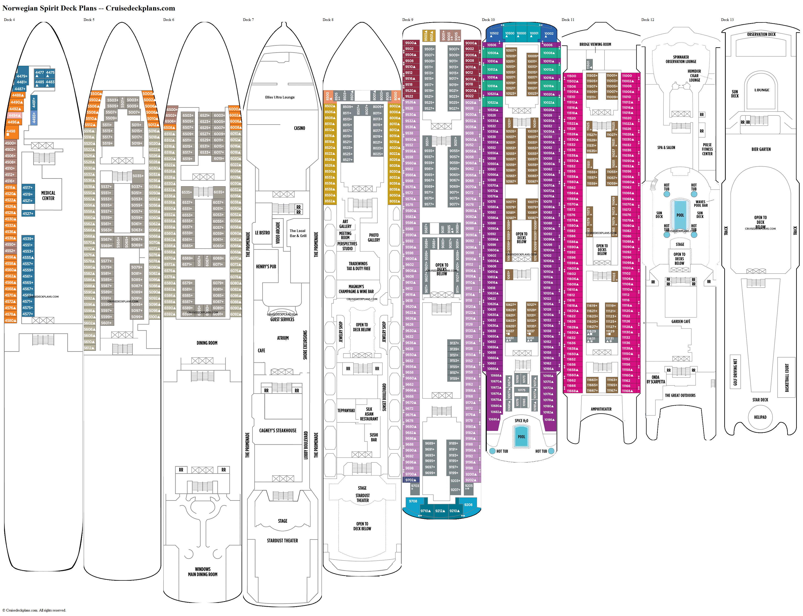 Norwegian Spirit deck plans image