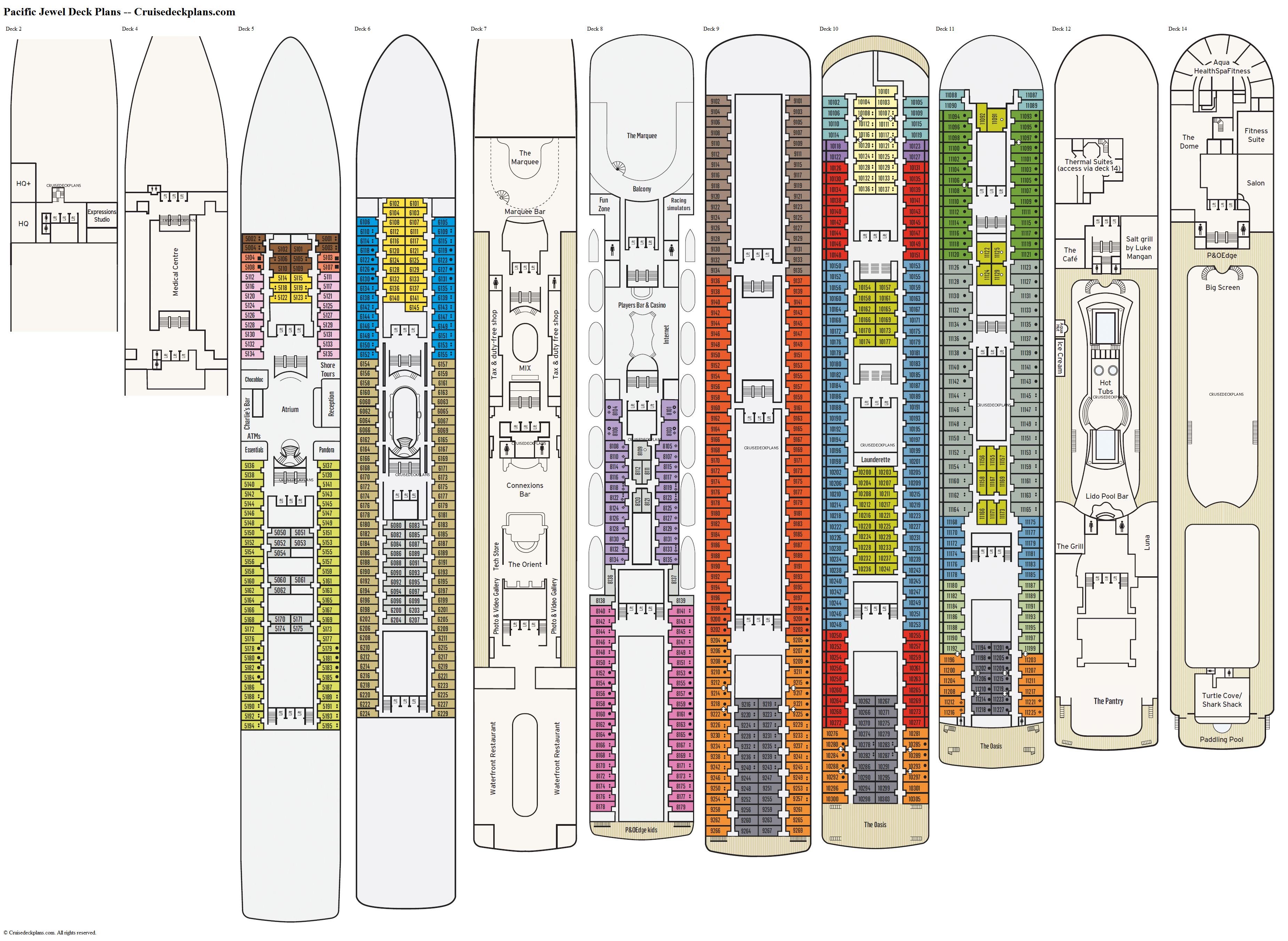 100 8 Norwegian Gem Deck Plan 5 TourGem 6 0 Gif