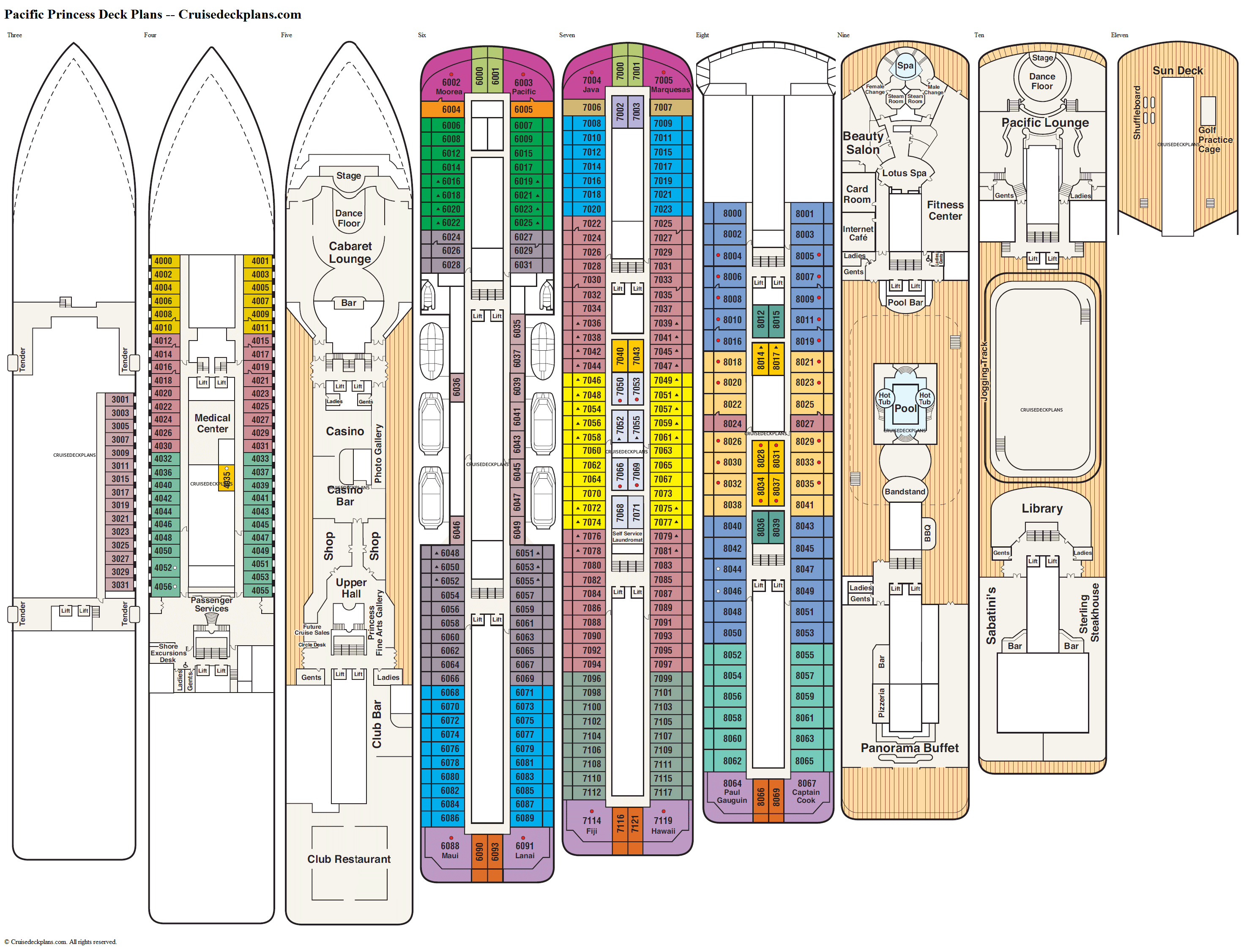 Pacific Princess deck plans image