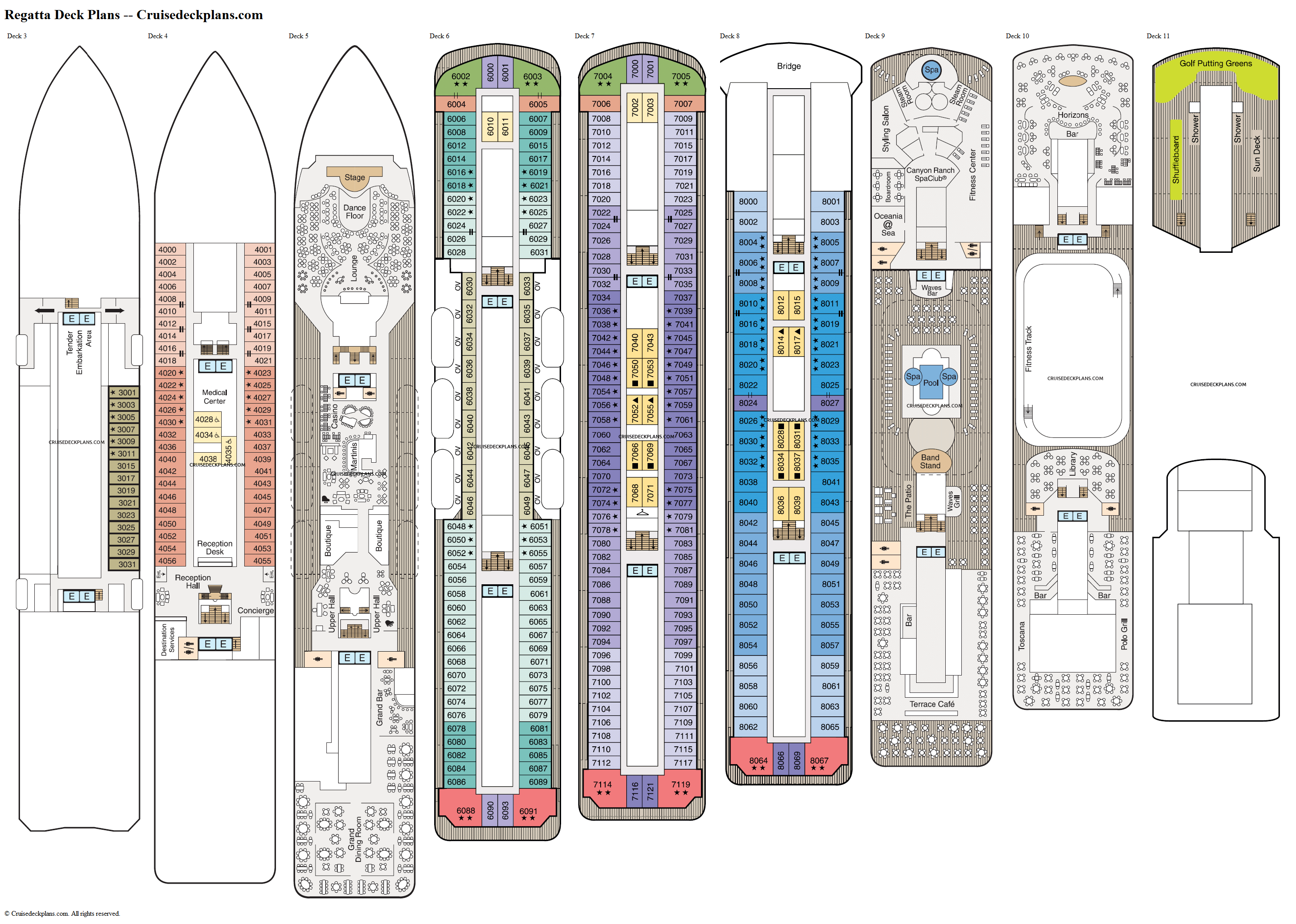 Regatta deck plans image