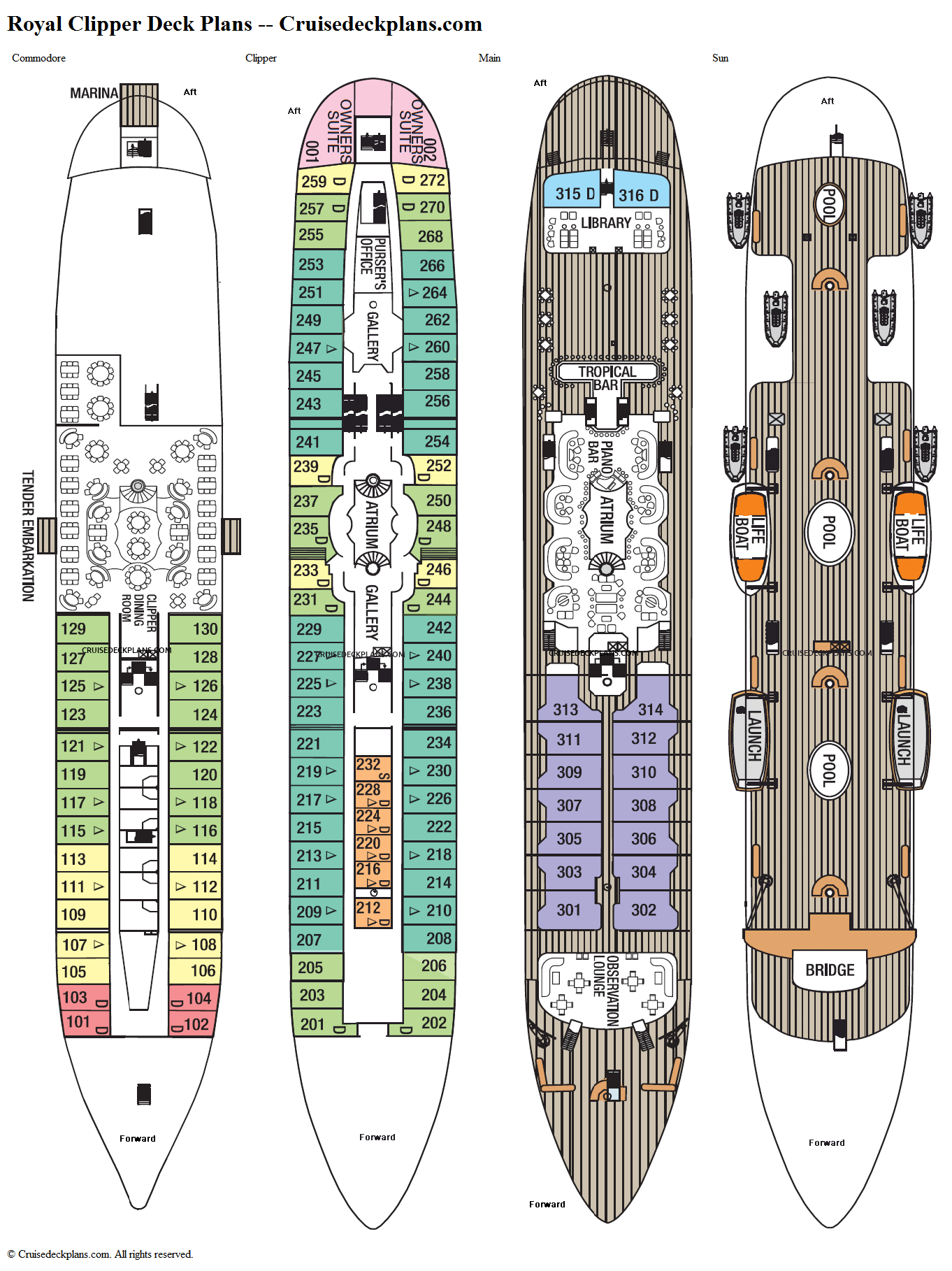 Royal Clipper deck plans image