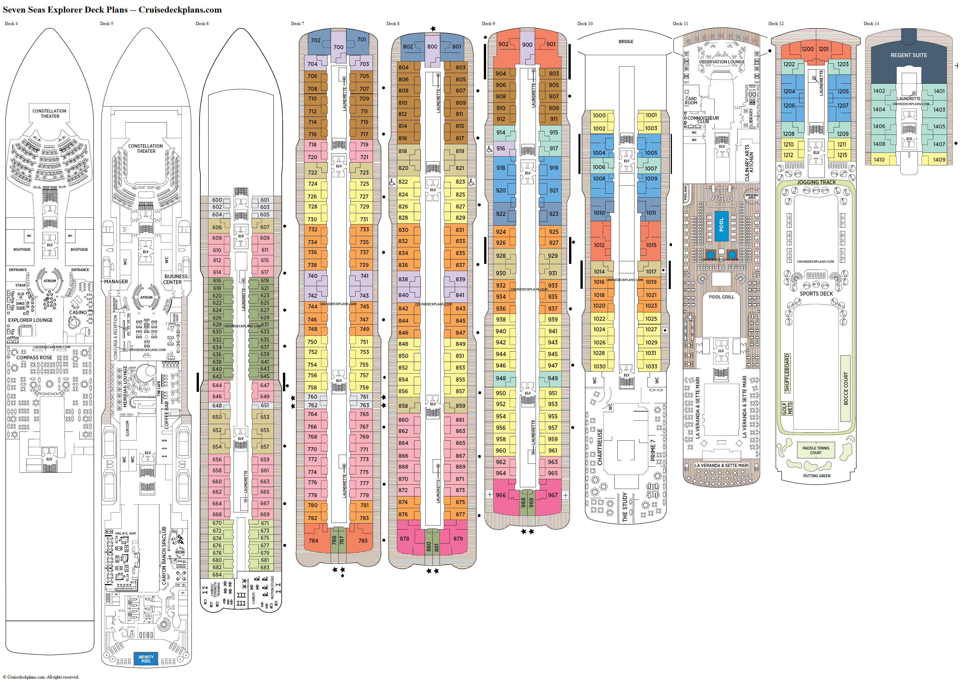 Seven Seas Explorer deck plans image