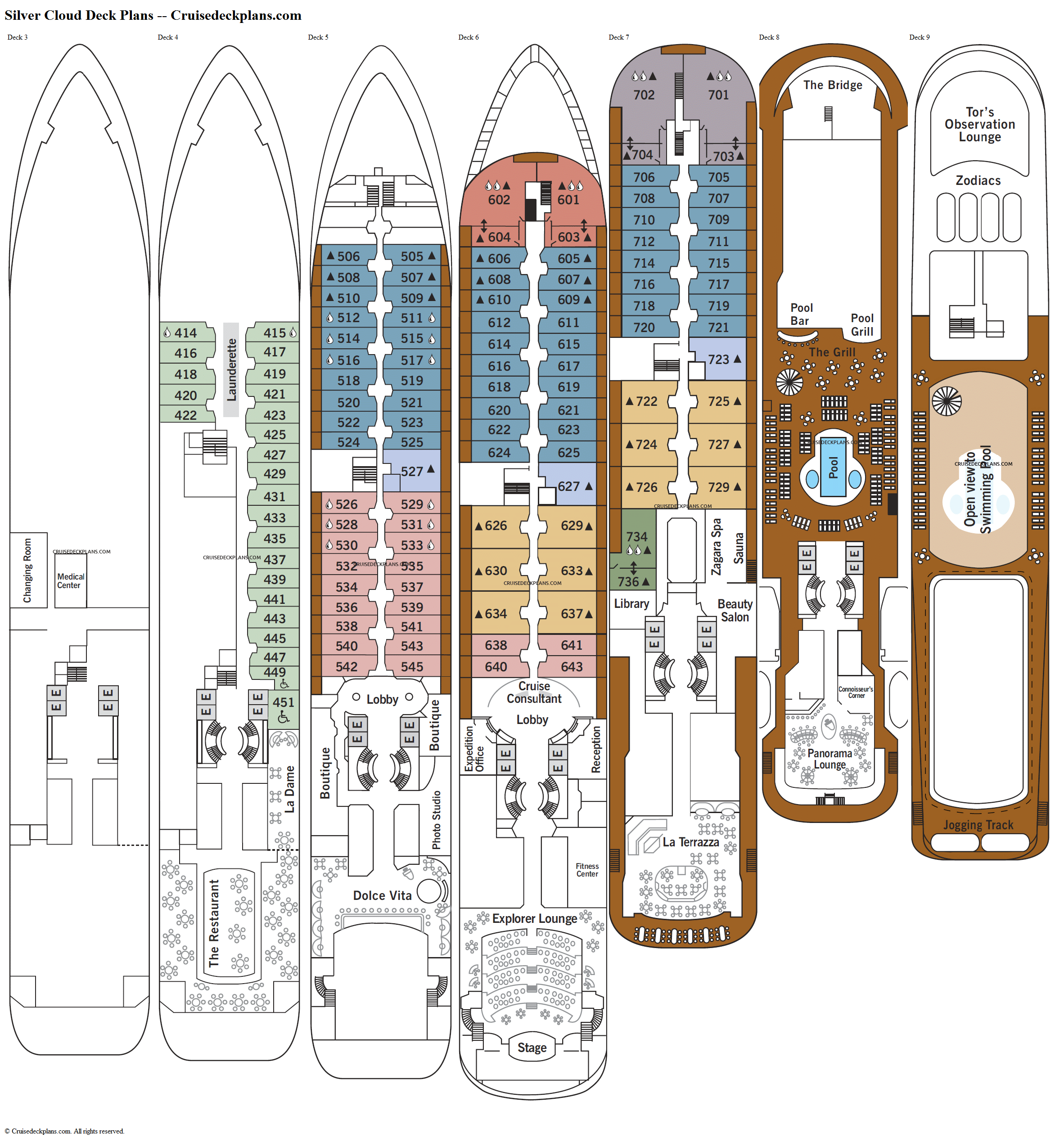 Silver Cloud deck plans image