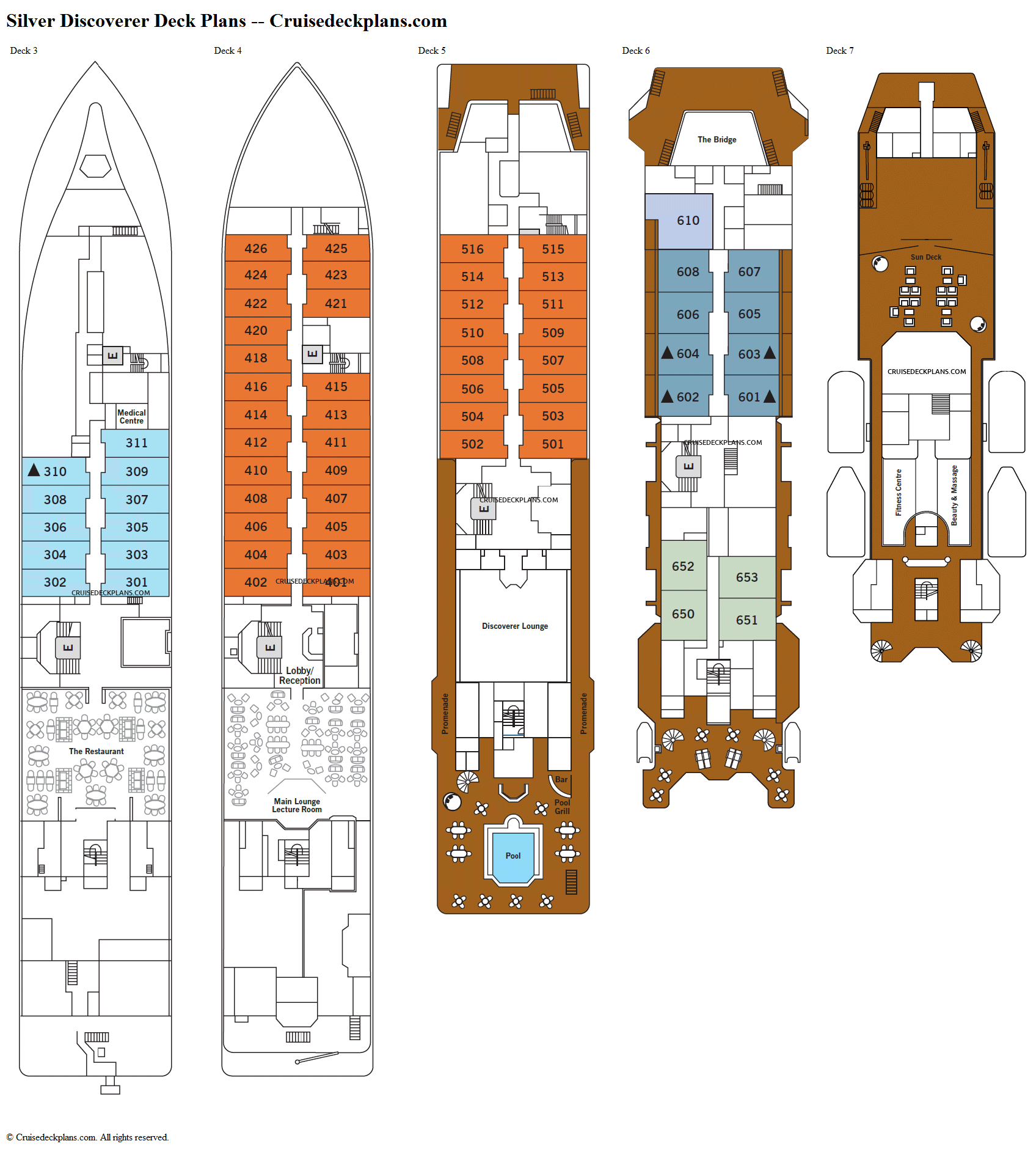 Silver Discoverer deck plans image