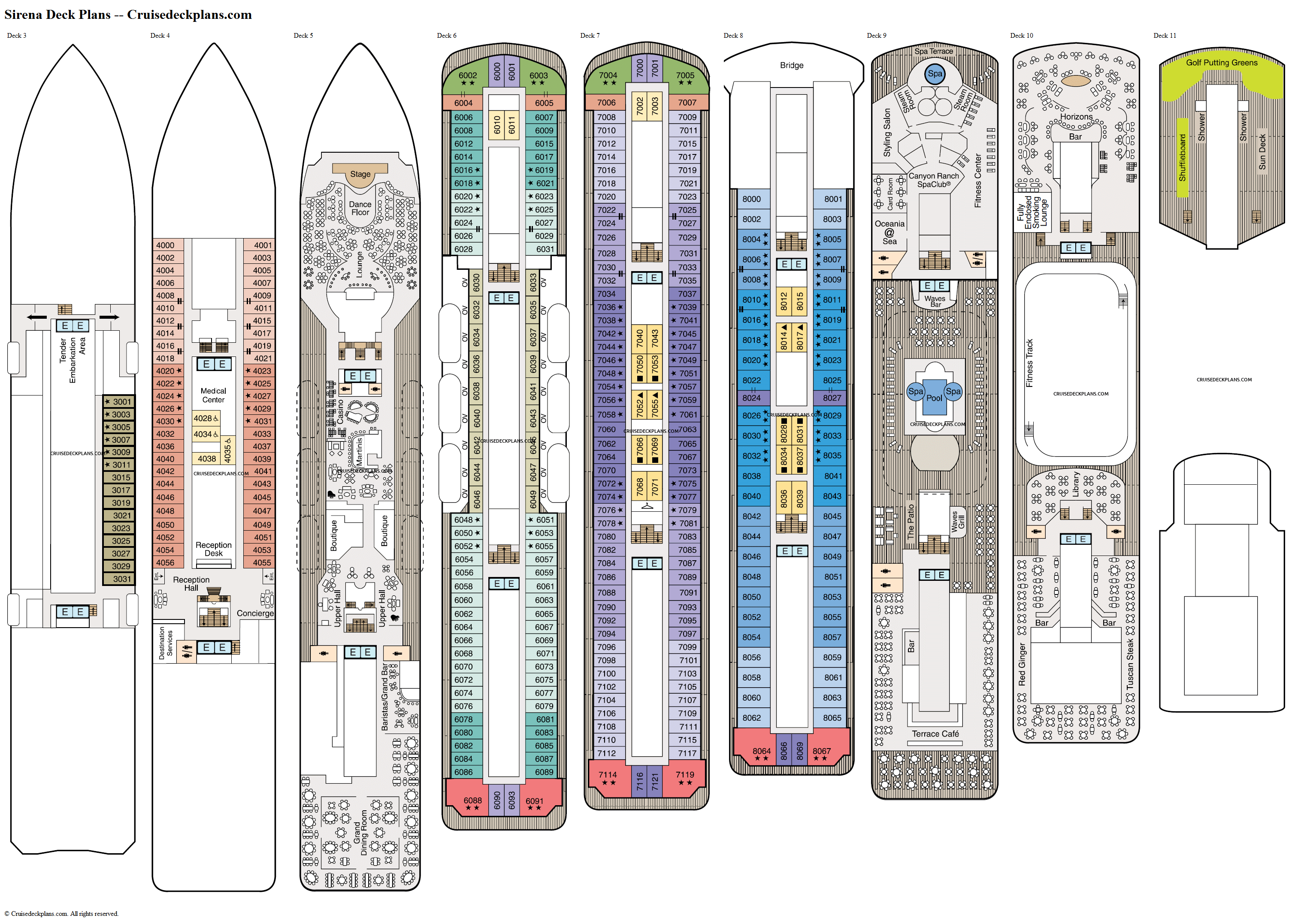 Sirena deck plans image
