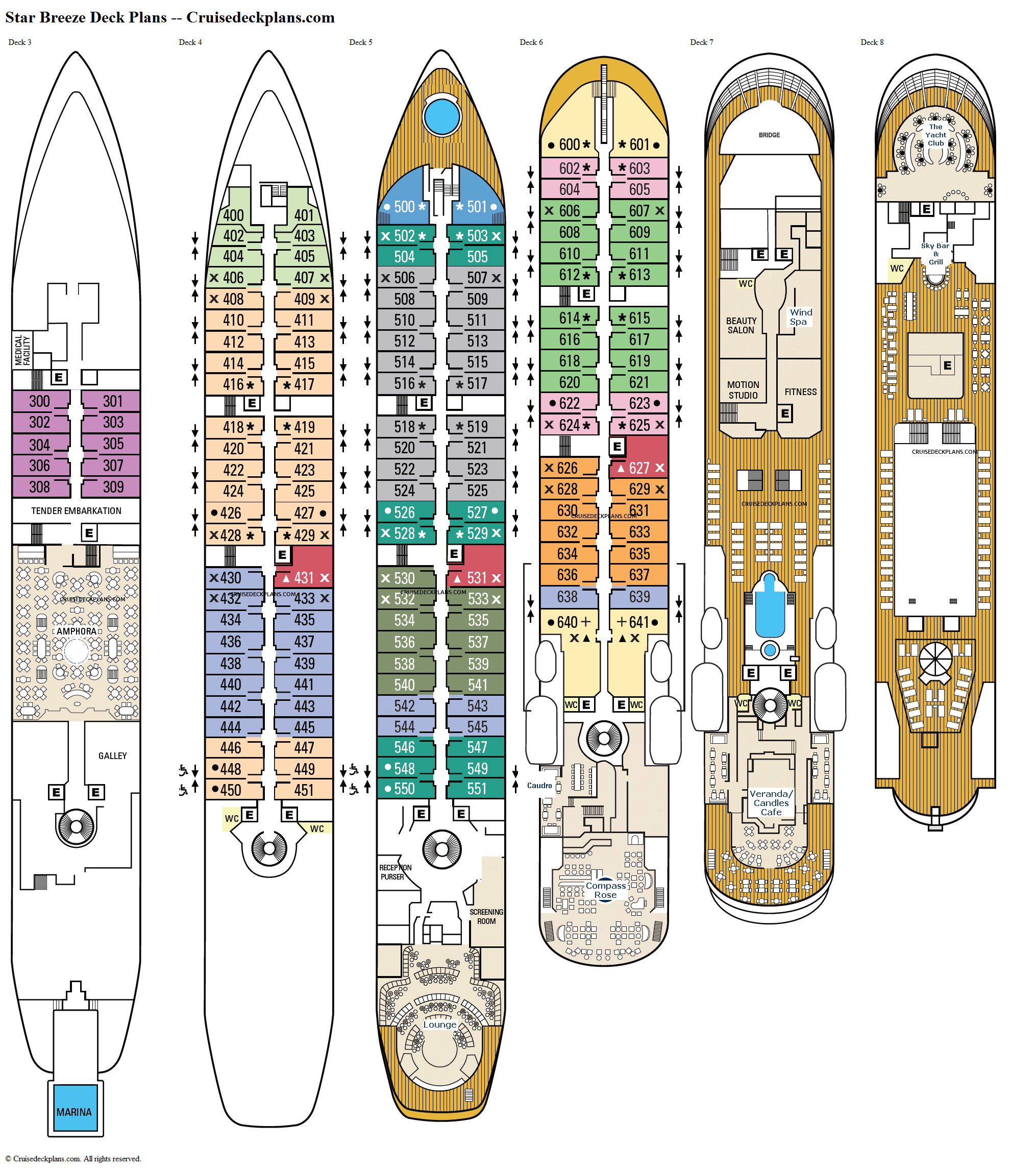 Star Breeze deck plans image