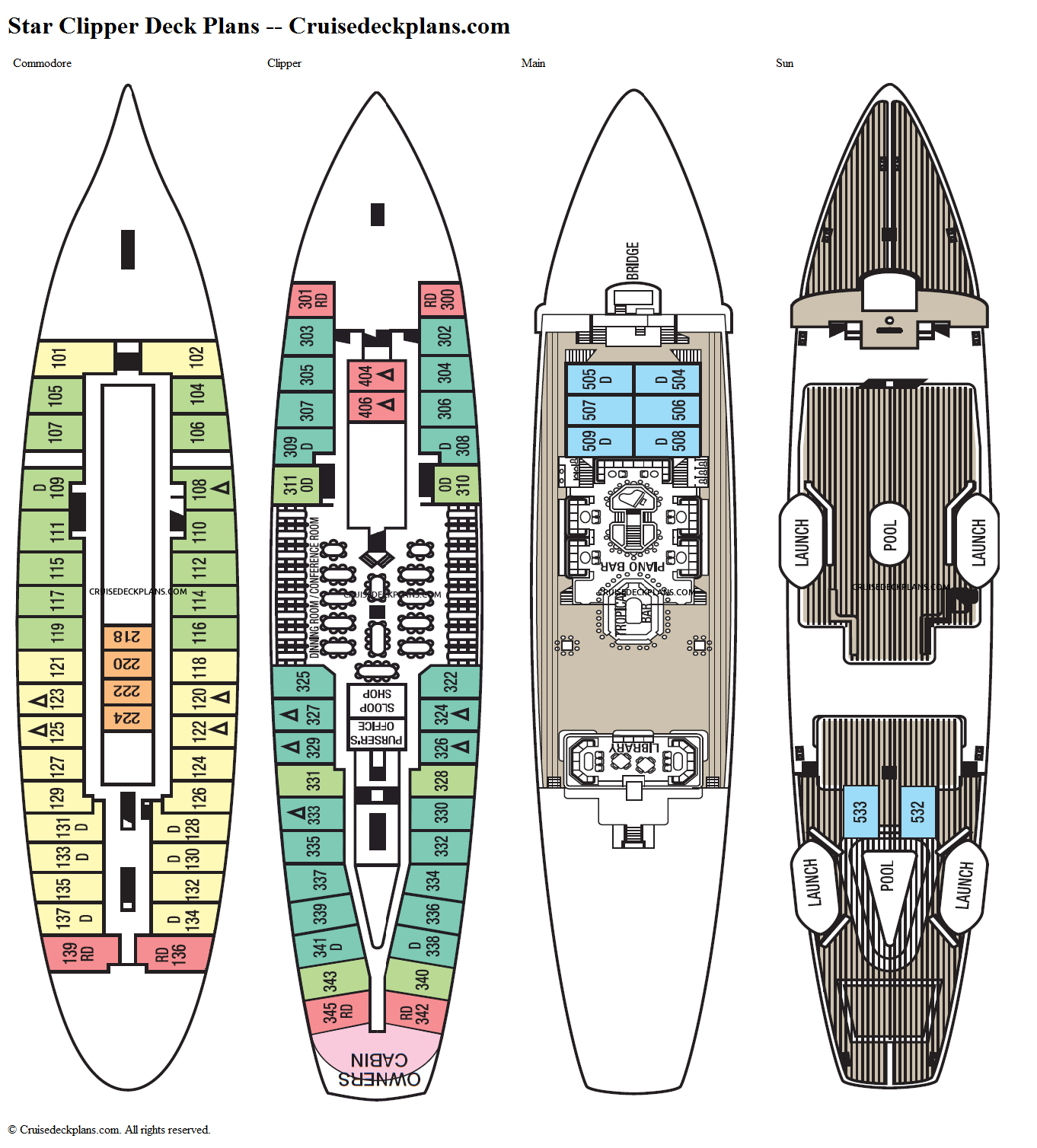 star clipper deck plans diagrams pictures video