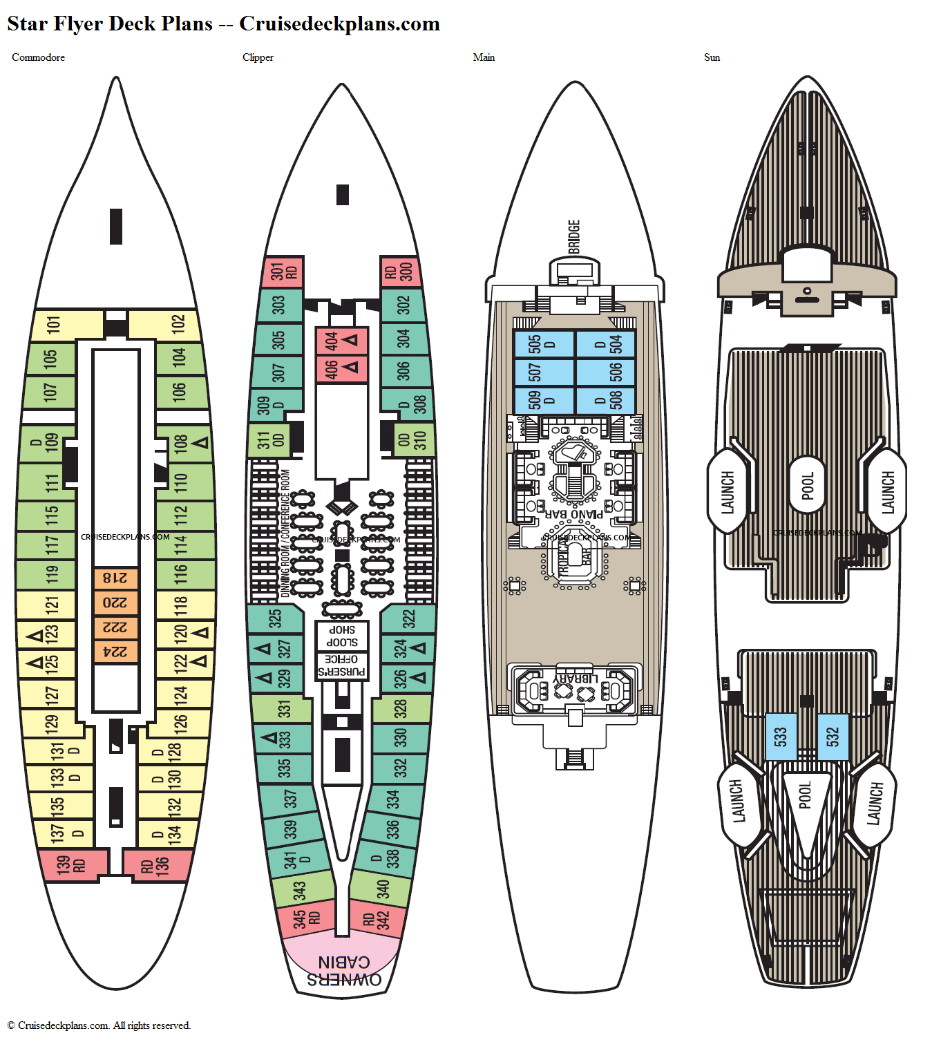 Star Flyer deck plans image