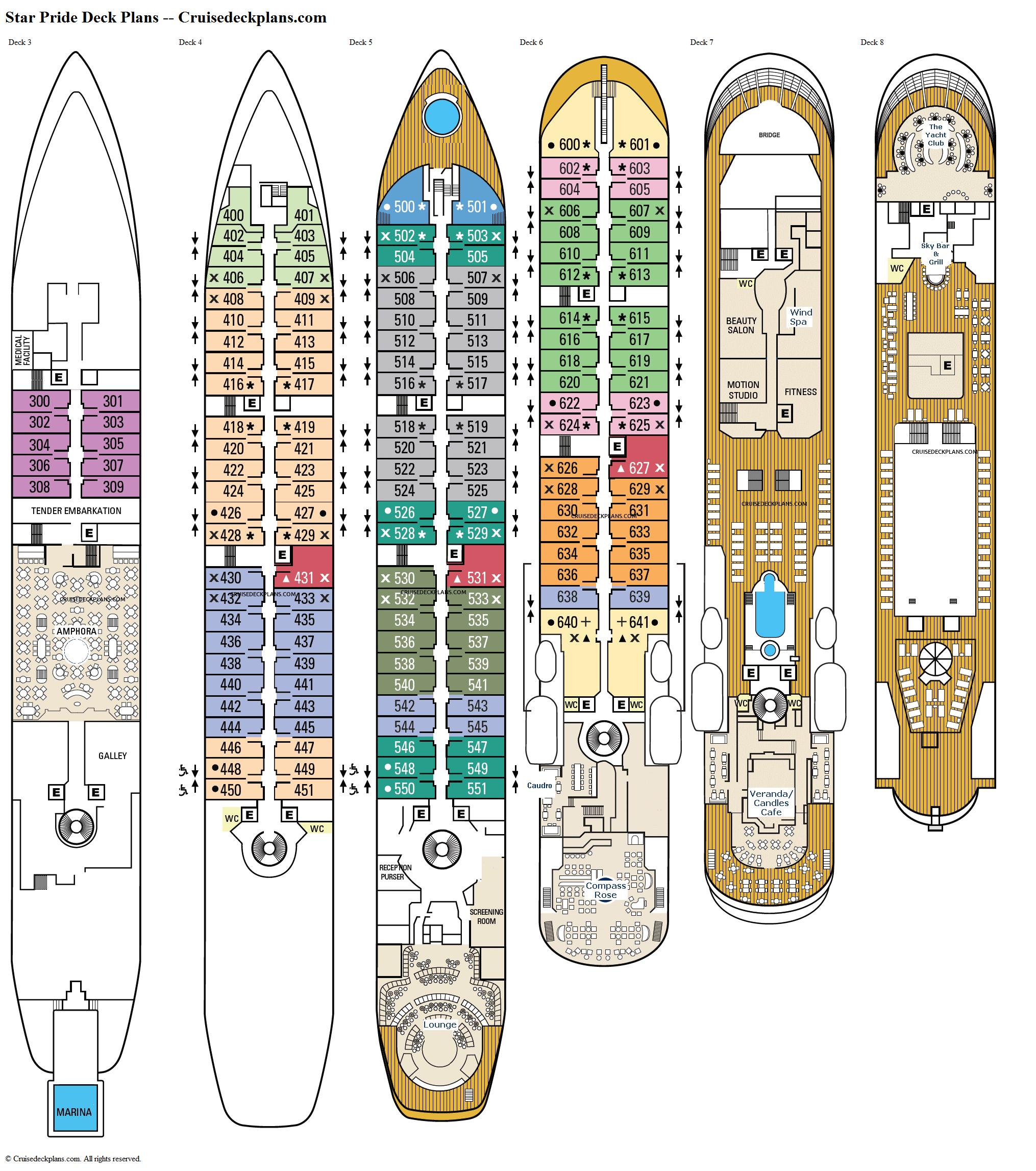 Star Pride Deck 7 Deck Plan Tour