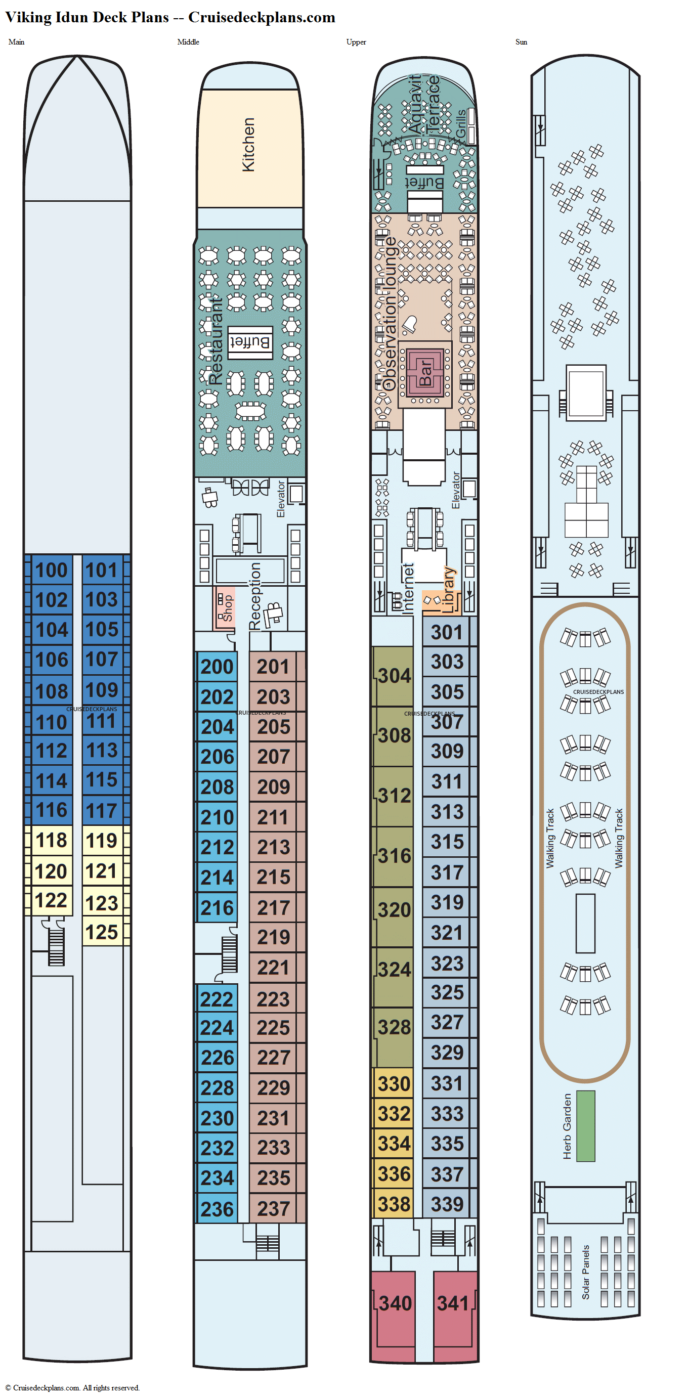 Viking Idun Deck Plans Diagrams Pictures Video