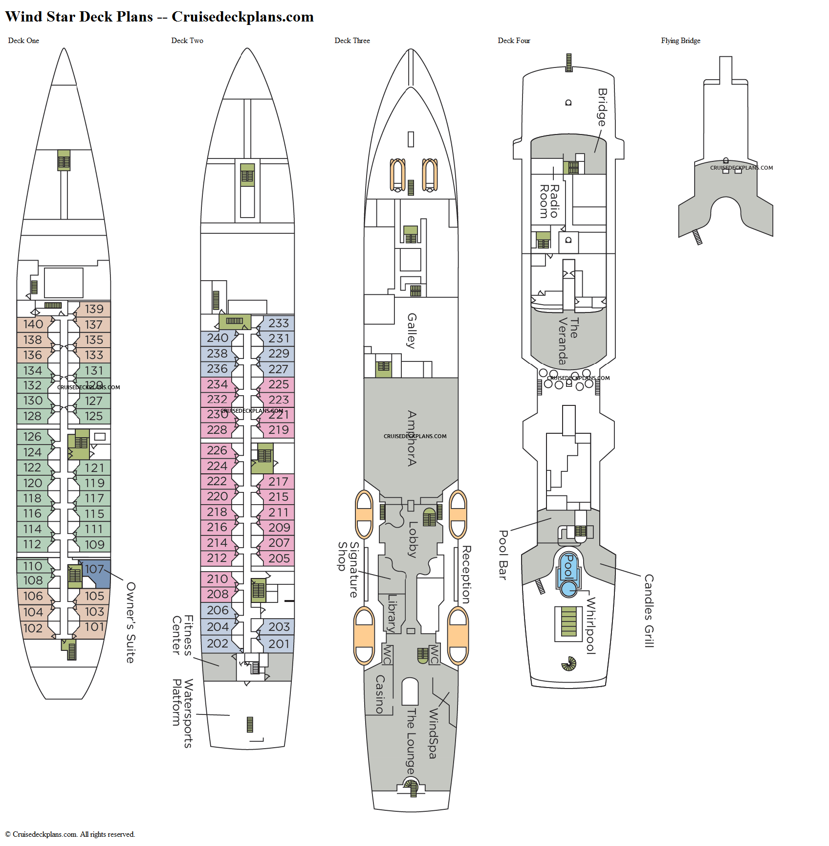 Wind Star deck plans image
