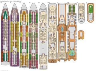 Carnival Ecstasy Riviera Deck Plan Tour
