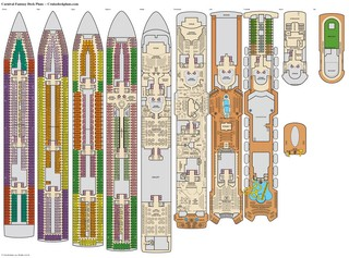 Carnival Fantasy deck plans
