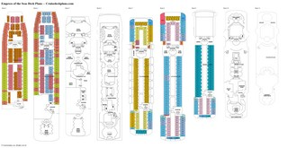 Empress of the Seas deck plans