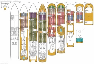 Seabourn Ovation deck plans