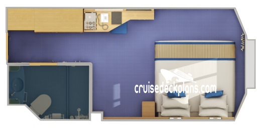 Carnival Radiance Interior with Picture Window Diagram Layout
