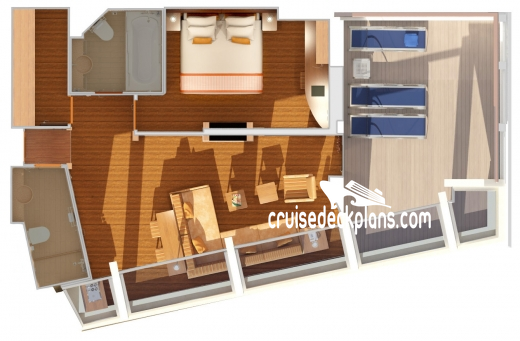 Carnival Glory Captains Suite Diagram Layout