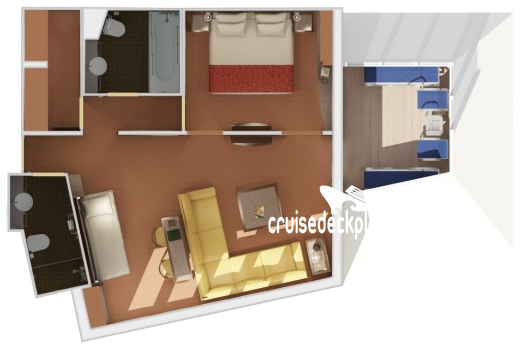 Carnival Splendor Captains Suite Diagram Layout