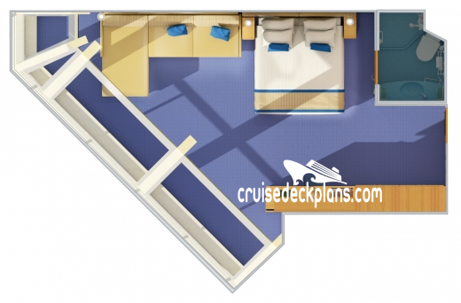 Carnival Conquest Scenic Oceanview Diagram Layout