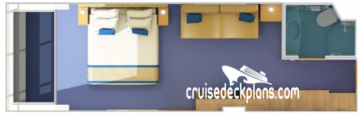 Carnival Radiance Scenic Oceanview Diagram Layout