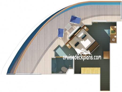 Carnival Splendor Premium Balcony Diagram Layout