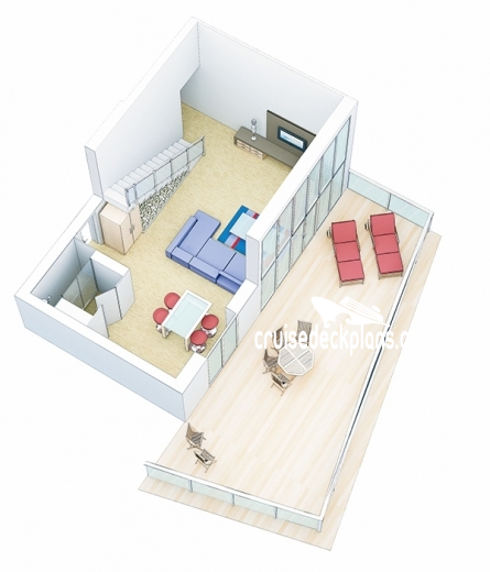 Allure of the Seas Star Loft Suite Diagram Layout