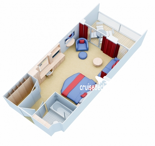 Allure of the Seas Junior Suite Diagram Layout