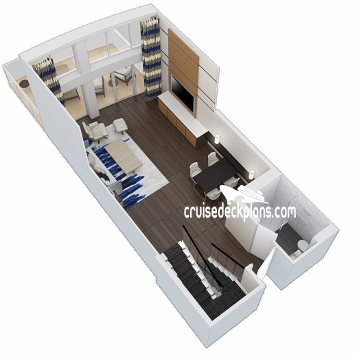 Anthem of the Seas Grand Loft Suite Diagram Layout