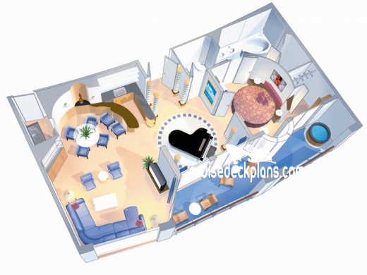 Adventure of the Seas Royal Suite Diagram Layout