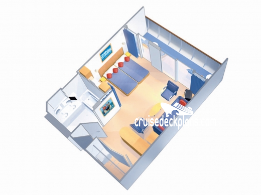 Brilliance of the Seas Grand Suite - 1 Bedroom Diagram Layout