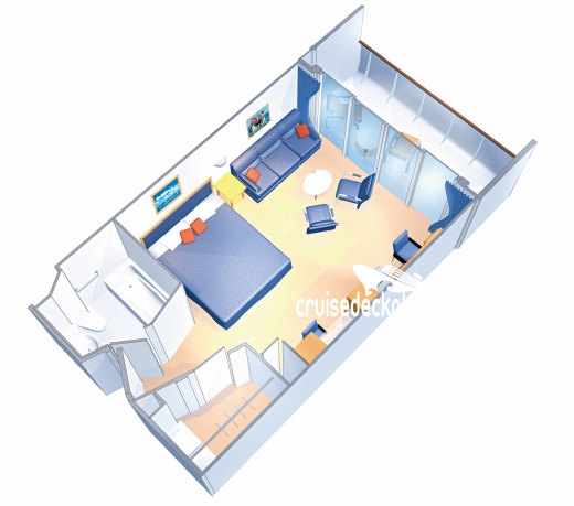 Brilliance of the Seas Junior Suite Diagram Layout