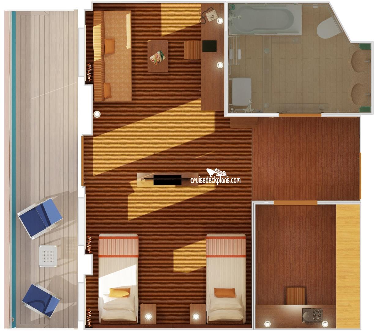 Costa Diadema Suite Stateroom