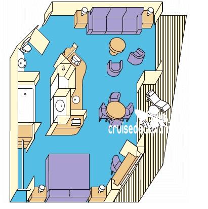 Pacific Explorer Suite Stateroom