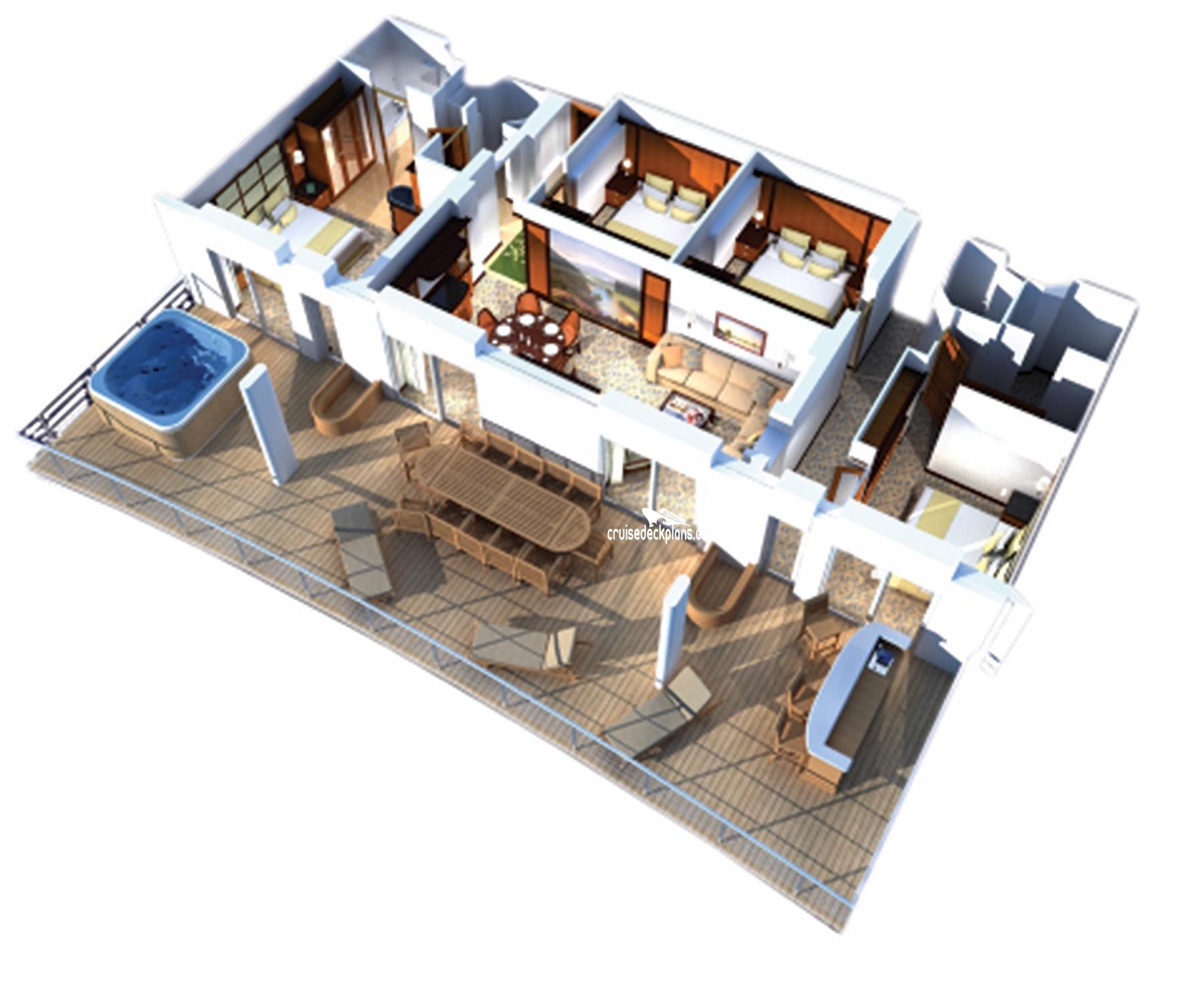 Freedom Of The Seas Villa Suite