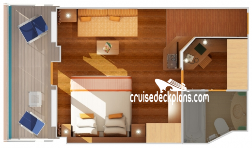 Carnival Victory Ocean Suite Diagram Layout