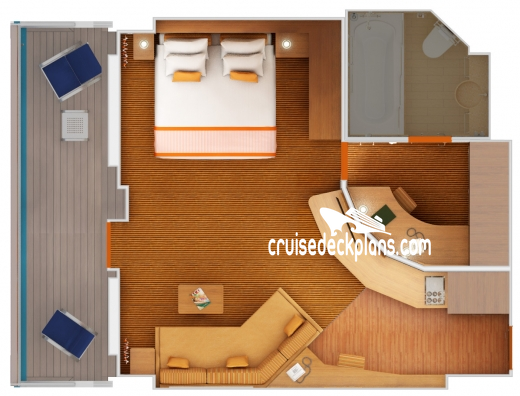 Carnival Victory Grand Suite Diagram Layout