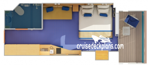 Carnival Victory Balcony Diagram Layout