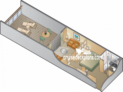 Celebrity Infinity Family Verandah Diagram Layout