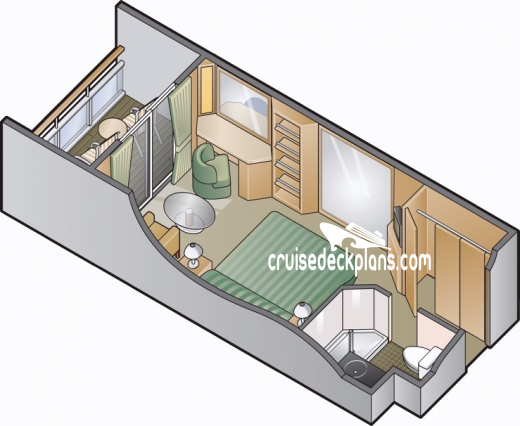 Celebrity Infinity Verandah Diagram Layout