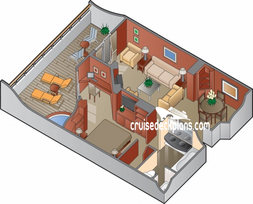 Celebrity Infinity Royal Suite Diagram Layout