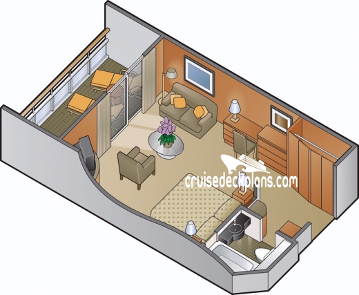 Celebrity Infinity Sky Suite Diagram Layout