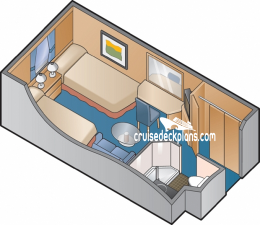Celebrity Infinity Oceanview Diagram Layout