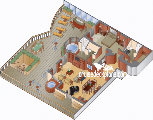 Celebrity Millennium Penthouse Suite Diagram Layout