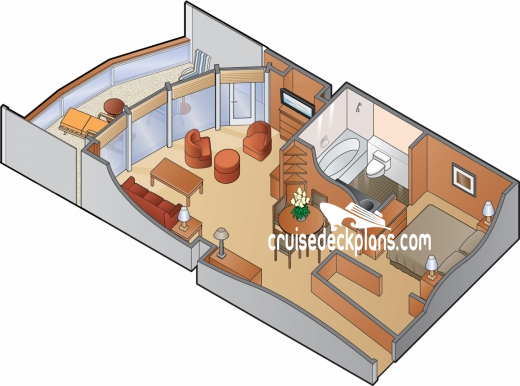 Celebrity Millennium Celebrity Suite Diagram Layout